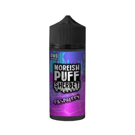 RASPBERRY SHERBET BY MOREISH PUFF 0MG SHORT FILL - 100ML