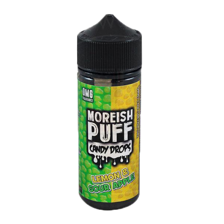 LEMON & SOUR APPLE CANDY DROPS BY MOREISH PUFF 0MG SHORTFILL - 100ML